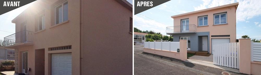 Renovation maison avant apres travaux good salon with - Relooking maison avant apres ...